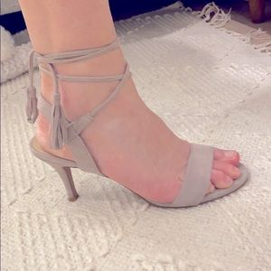 Lace up strappy heel